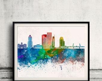 Portland skyline Poster INSTANT DOWNLOAD 8x10 inches Poster Wall art Illustration Print Art Decorative - SKU 1959