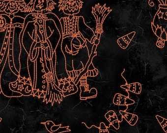 Halloweenie -  Black Toile (8632-J)