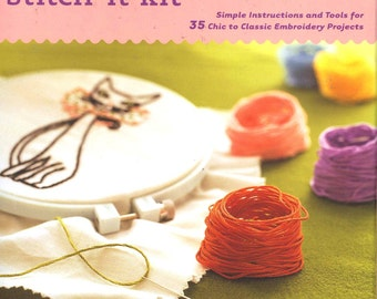 Stitch it Kit by Jenny Hart 35 Embroidery projects and Instruction Booklet  Kit Unopened Chronicle books how to kit