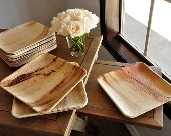 Dinner Plates. Ready in 2-5 Business Days. Disposable 10\  Palm Leaf & Party Plates. Ready in 2-5 Business Days. Disposable 8