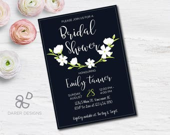 Bridal Shower Invitation, Bridal Shower Invitation Printable, Bridal Shower Floral Invitation, Bridal Shower Invite, Boho Invitation
