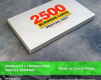 """2500 Standard Printed Business Cards 3.5"""" x 2"""",Business Cards Printing Rounded Corners, Matte or Glossy"""