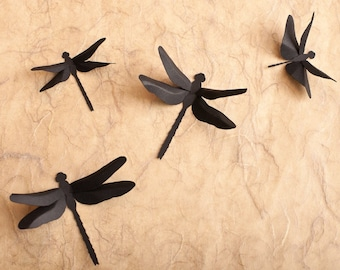 Dragonfly Wall Decor: 3D Wall Dragonfly Silhouettes in Black for Home Decor, Nursery, Children's Room, Classroom