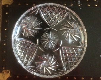 Cut Glass Platter, large