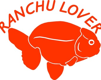 Ranchu goldfish decal
