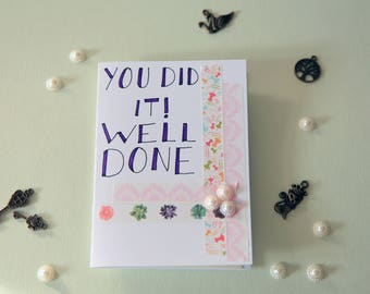 Pearl and Strips Well Done card