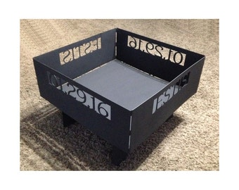 Fire Pit Customized with Name and Date