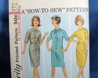 Vintage Simplicity Sewing Pattern 5088 - Misses One Piece Dress