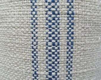 FRENCH LAUNDRY Parisian Stripe Blue railroaded woven fabric