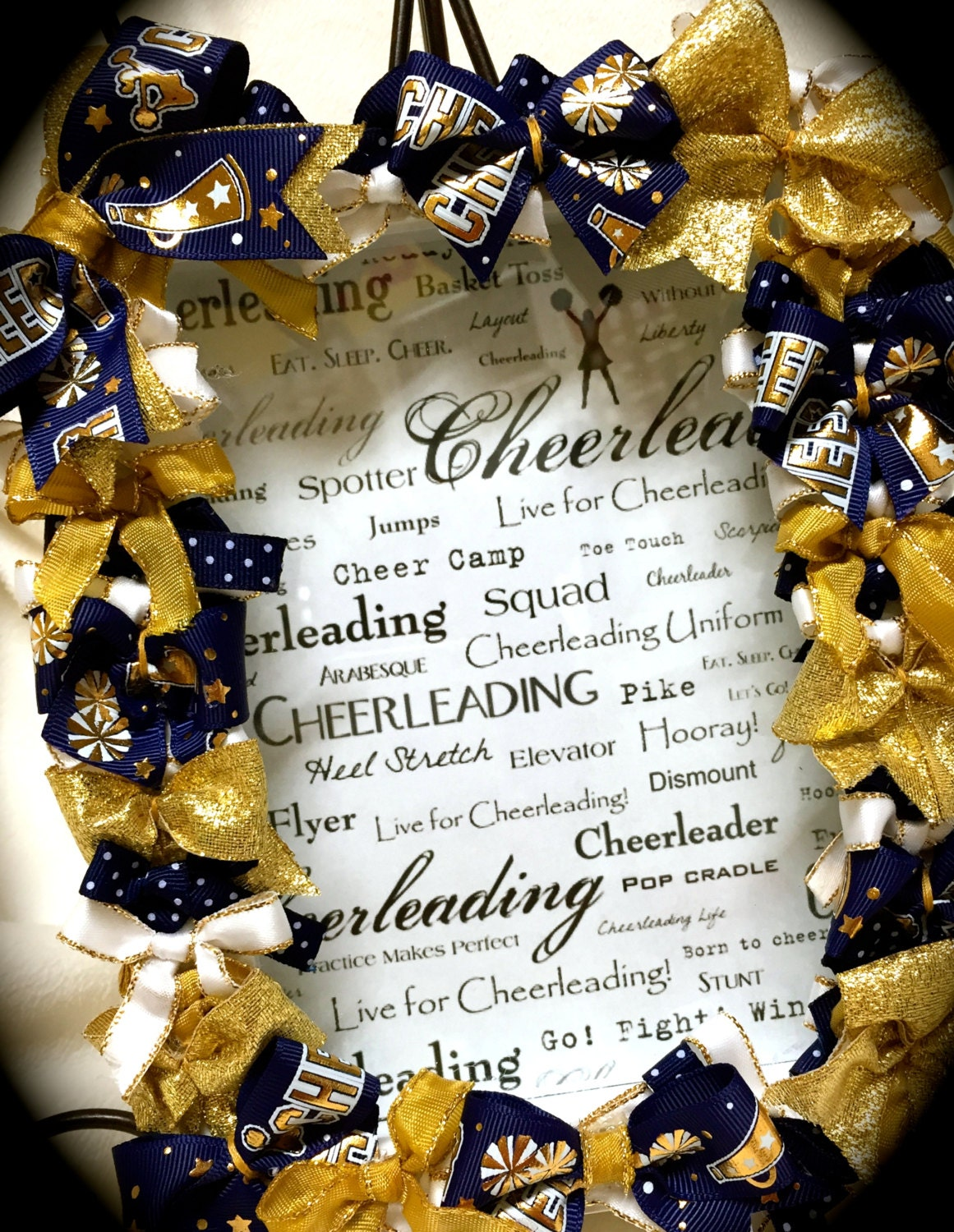 Cheer Picture Frame~SHADOW Box Cheer Bow Picture Frame 5x7 ALL ...