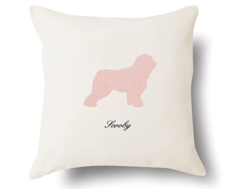 Old English Sheepdog Pillow - Old English Sheepdog Gift - Dog Lover Present - 4 Color Choices