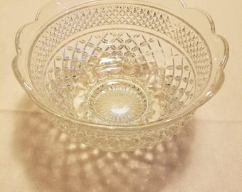 Vintage Mid Century Wexford Large Fruit Bowl by Anchor Hocking