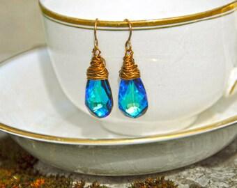 Azure Drop Earrings
