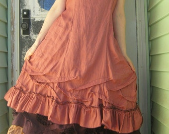 Short Ruffle Slip Dress