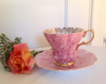 Pink Royal Albert Bone China Teacup and Saucer