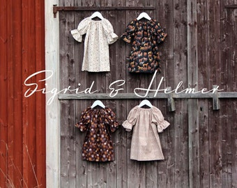 Girls B O H O Peasant three quarter dress, Baby dress, size NB to 8Y, Cotton Boho dress, Coming home outfit, Toddler dress, Wedding dress