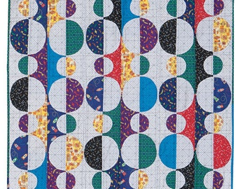 """Baubles Throw Quilt Kit, Makes a 48"""" x 56"""" size quilt. Easy to sew!"""