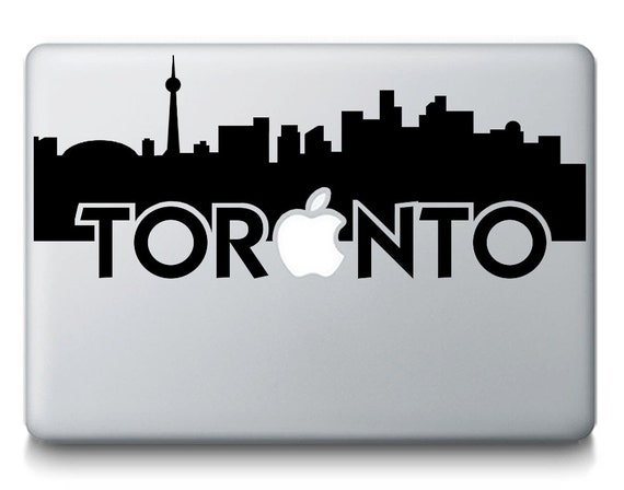 Toronto skyline city silhouette macbook laptop decal sticker