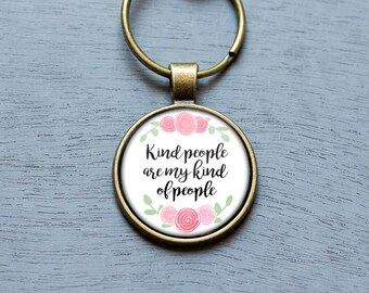 Gift for coworker etsy kindness matters inspirational keychain thank you gifts for her affordable gifts for friends negle Image collections