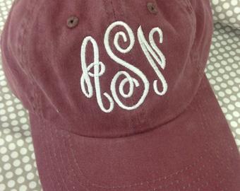monogrammed cap, monogrammed baseball cap, monogrammed hat