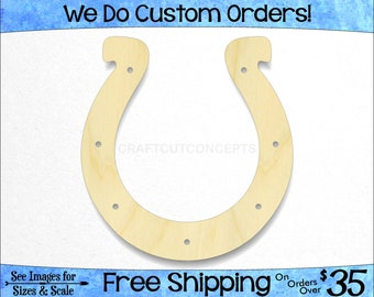 Horseshoe Shape- Large & Small - Pick Size - Unfinished Cutout Shapes Stable Crafting Farm Hobby Riding Trailer Luck Trot (SO-0016-08)*2-34