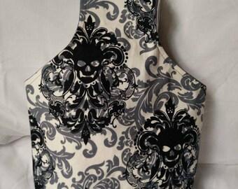 Floral skull wrist bag