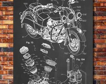 Engine blueprint etsy indian motorcycle engine patent print art 2014 malvernweather Images