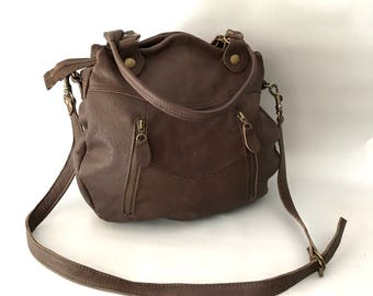 SALE - Larch leather bag in brown