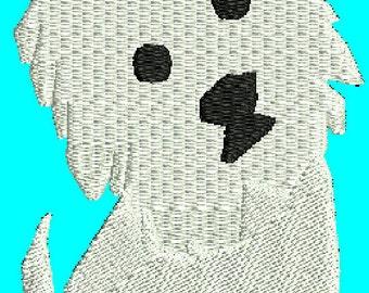 Dog Westie  Embroidery Design