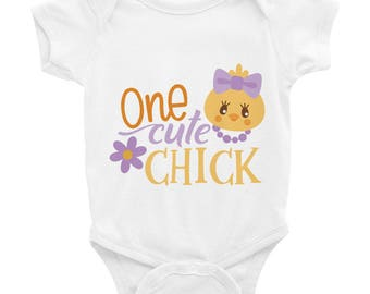 One Cute Chick Easter Spring Infant Bodysuit