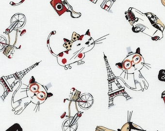 Cat Cloud  - 1 yard Cut - Timeless Treasures - Cotton Fabric - Quilting Fabric  - Cat Fabric