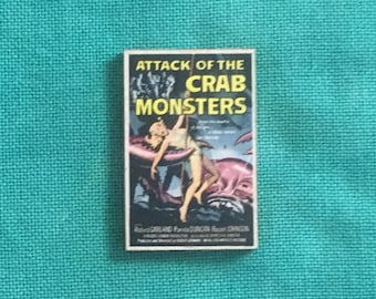 Attack of the Crab Monster Wooden Needle Minder