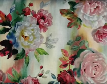 "Rosewater - LAST PIECE 2 y 24"" - Quilting Treasures -  Beautiful Gorgeous !!"