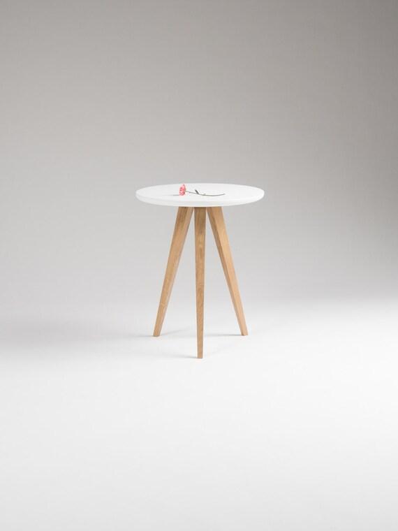 Kleiner Akzent Tisch Runde weiße Nachttisch Beistelltisch
