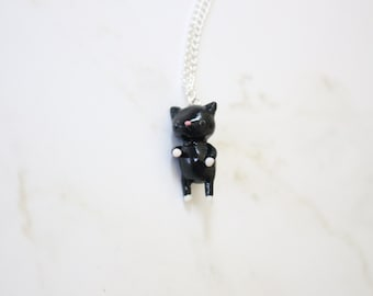 Polymer Clay Cat Necklace