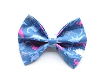 Pink T-Rex // Dog Bow Tie