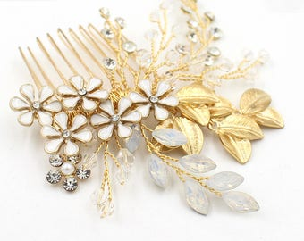 Wedding Bridal Hair Comb ,  Wedding Hair Pins, Flower Girl Hair Comb, Hair Accessories, Hair piece