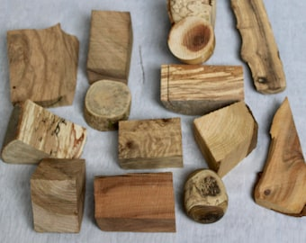 Small pieces of wood for jewelry creation