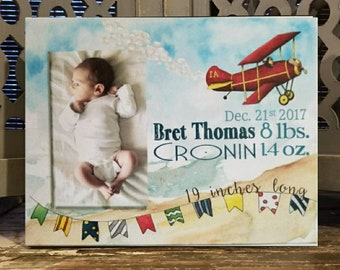 Airplane frame etsy personalized baby boy frame airplane blue colorful beautiful new mom mother baby negle Gallery