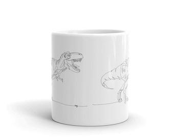 T-Rex Line Art — Mug