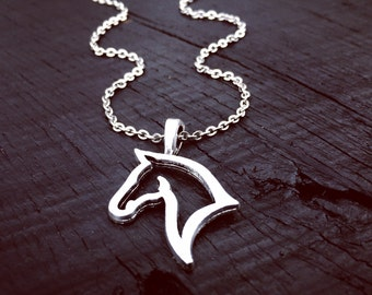 Horse Pendant Necklace   Horse Jewelry   Jewelry Gift For Horse Lover   Rodeo Necklace Jewelry   Equestrian Necklace   Equestrian Jewelry