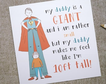 Birthday Cards For Daddy From Daughter ~ Daddy daughter card etsy