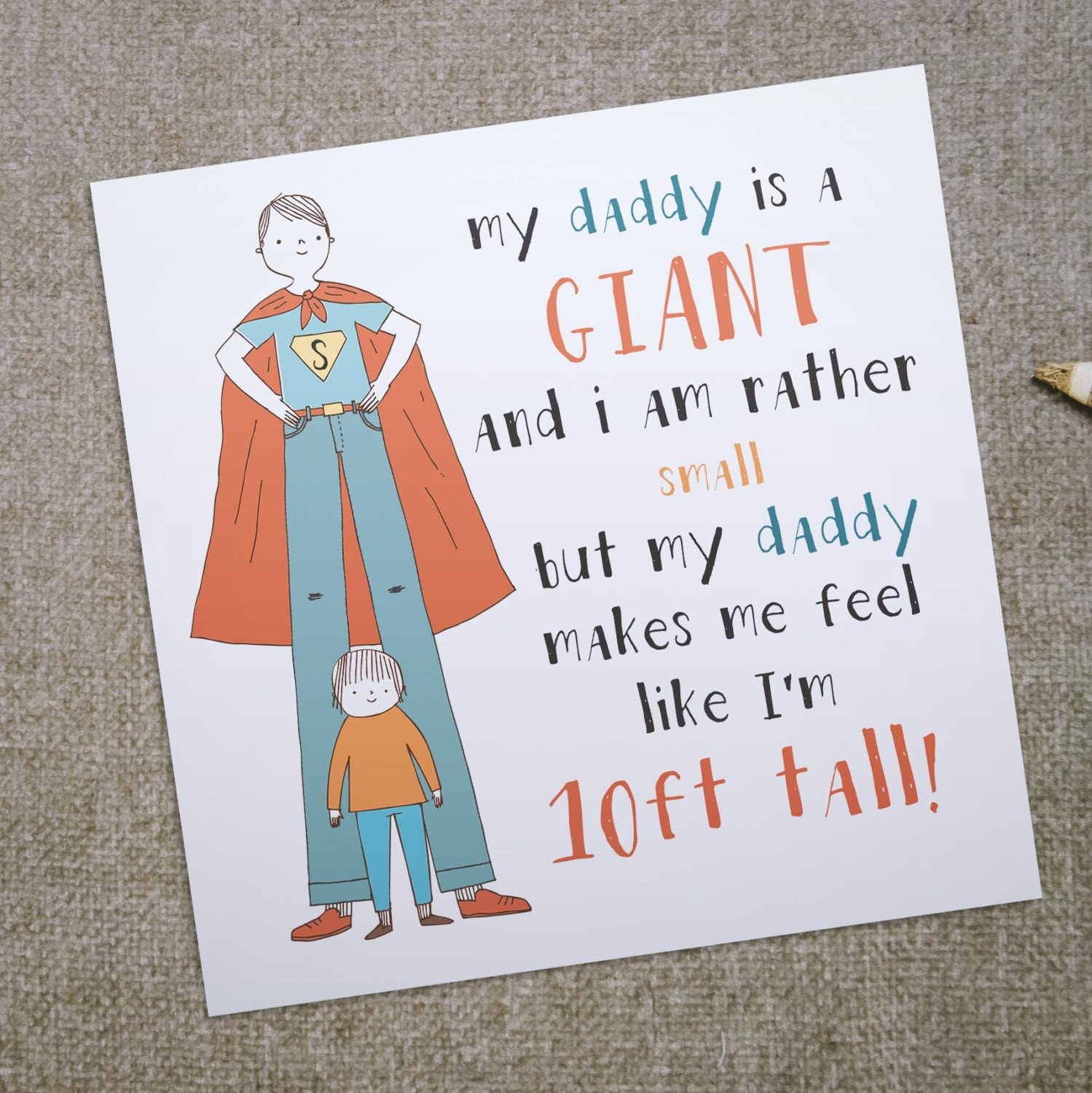 My daddy is a giant greeting card for dad ideal birthday zoom m4hsunfo