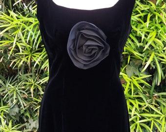 A Rose is a Rose Vintage Velvet Cocktail Dress