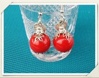 Handmade fimo earrings Red