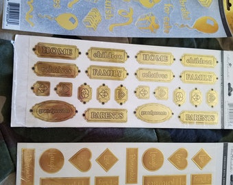 Gold & Silver scrapbooking stickers