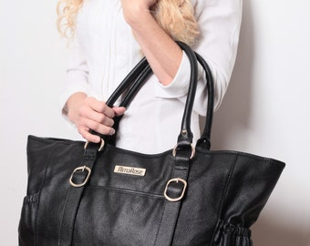 AlmaRose Claire Leather Mom Tote