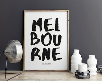 Melbourne Print, Melbourne Poster for office decor, Australia, city prints, gifts, work desk, Melbourne city Prints, art, Wall Art, Art