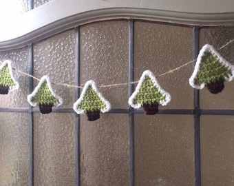 Christmas Tree Garland, Christmas Decorations, Rustic Bunting, Festive Garland, Teacher Gift, Secret Santa, Shabby Chic Home, Home Decor