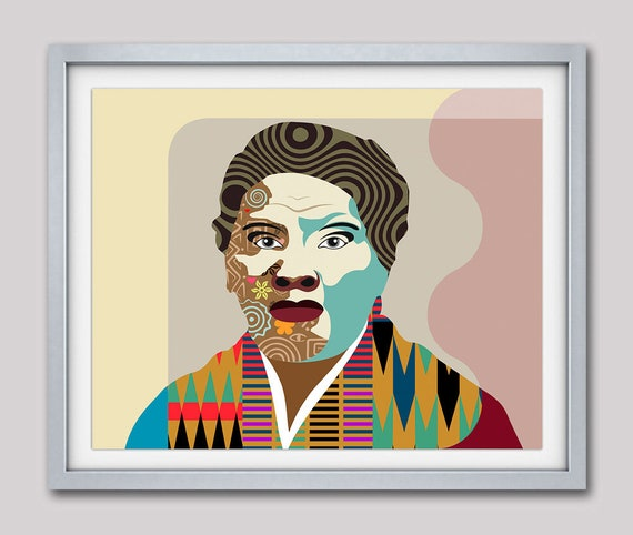 Harriet Tubman Art, Harriet Tubman Poster,  Harriet Tubman Gift, Civil Rights Art, Black History Art, African American